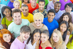 Stor gruppstudent Social Friendship Concept Arkivbild