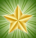 stor guld- stjärna Arkivbilder