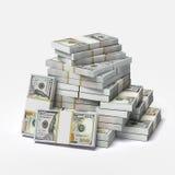 Stor hög av dollar stock illustrationer
