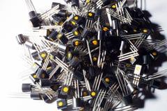 Stor hög av transistorer Royaltyfri Foto