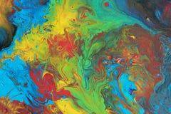 stor hög målning för abstrakt sinnesrörelser för akrylbakgrundskanfas Arkivfoto