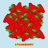Stor högjordgubbe vektor illustrationer