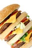 stor hamburgare Royaltyfria Foton