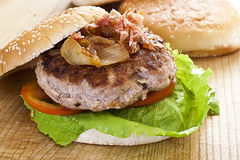 stor hamburgare Royaltyfri Foto