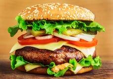 stor hamburgare Arkivbild