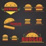 stor hamburgare Fotografering för Bildbyråer