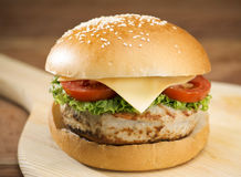 stor hamburgare Royaltyfri Bild