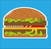 stor hamburgare royaltyfri illustrationer