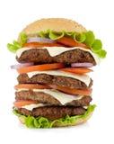 stor hamburgare mycket Royaltyfri Foto