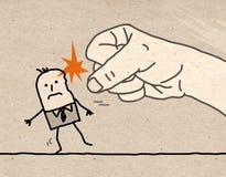 Stor hand - våld arkivfoto
