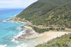Stor havväg i Victoria Australia royaltyfria foton