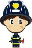 Stor Head brandman för tecknad film Arkivfoton