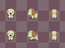 Stor Head hund som går tecknad filmvektorn Royaltyfri Bild