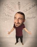 Stor head person med lockiga linjer Arkivfoto