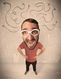 Stor head person med pilar Fotografering för Bildbyråer
