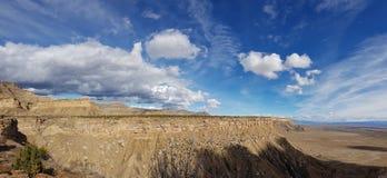 Stor himmel, bokklippor, Utah arkivfoto