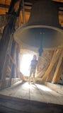 Stor historisk kyrklig klocka Royaltyfria Bilder