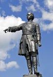 stor historisk monument peter till tsar Arkivbilder