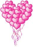 stor hjärta för ballong Arkivfoto