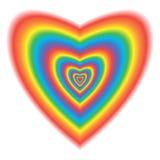 Stor hjärta i regnbågefärger Arkivbilder