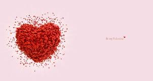 Stor hjärta som består av små hjärtor tillgänglig vektor för valentiner för kortdagmapp vektor illustrationer