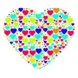 Stor hjärta som komponeras från små hjärtor Royaltyfri Bild
