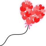 Stor hjärtaballong Arkivbild