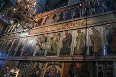 Stor iconostasis av St Sophia Cathedral Royaltyfri Bild