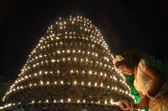 Stor indisk lampa Arkivbild