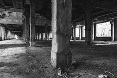 Stor industriell korridor royaltyfri bild