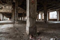 Stor industriell korridor royaltyfri foto