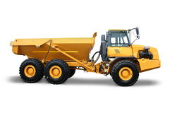stor industriell lorry Arkivbild