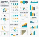 Stor infographic designe för vektorbeståndsdelmall Royaltyfri Foto