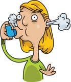stor inhaler Arkivbild