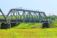 Stor järnväg bro Royaltyfria Foton
