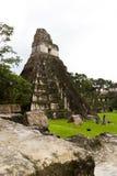 Stor Jaguar tempel, Tikal, Guatemala Arkivbild