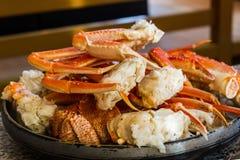 Stor japansk jätte- krabba på den Sapporo staden Arkivbild