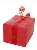 stor julgåvared Royaltyfria Foton