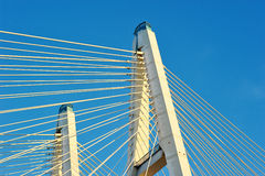 Stor (kabel-bliven) Obukhovsky bro, Arkivfoto