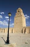 stor kairouan moské tunisia arkivbild
