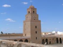stor kairouan moské tunisia Royaltyfria Foton
