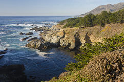 stor Kalifornien central kustmonterey sur Royaltyfri Bild