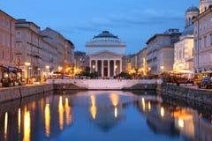 Stor kanal, Trieste, Italien arkivbilder
