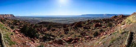 Stor kanjonplatå i Arizona Arkivbilder