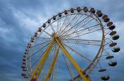Stor karusell som colloquially kallas ferrishjulet fotografering för bildbyråer