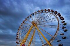 Stor karusell som colloquially kallas ferrishjulet arkivbilder