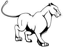 stor katt royaltyfri illustrationer