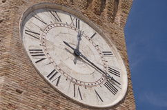 Stor klocka, San Benedetto del Tronto Arkivfoton