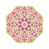Stor knopp för kalejdoskop Orientalisk modellillustration playnig för bakgrundsblommalampa Royaltyfri Fotografi