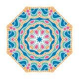 Stor knopp för kalejdoskop Orientalisk modellillustration playnig för bakgrundsblommalampa Royaltyfri Bild